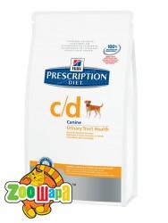 Hill's Сухой корм для собак Prescription Diet C/D Multicare для растворения струвитных камней (12 кг)