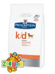 Hill's Сухой корм для собак Prescription Diet K/D при заболеваниях почек (12 кг)