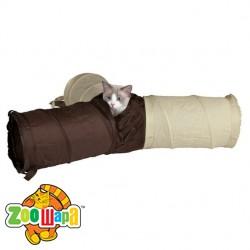 Trixie тоннель (3 рукава) для кошек (нейлон) 22х62 см
