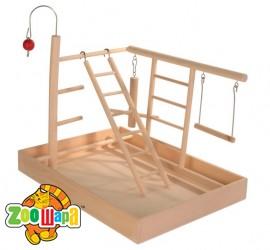 Trixie Игровая площадка для для волнистых попугайчиков, канареек и певчих птиц (34х26x25 см)