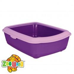 Trixie туалет д/кота с рамкой(фиолет)47х37х15см