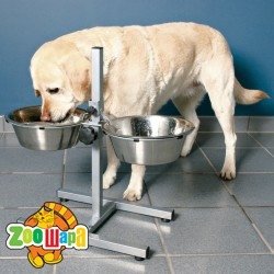 Trixie аксессуары для собак стояк + 2 миски (металл) 2,8 л