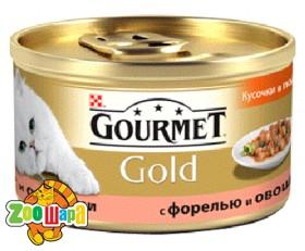 Gourmet Gold З форелью та овочами. Шмат у підливі. 85 г