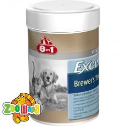 8in1 Пивные дрожжи с чесноком для собак и кошек Excel Brewers Yeast (260 таблеток) комплекс витаминов и микроэлементов