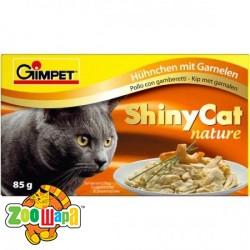Gimpet Влажный корм для кошек Shiny Cat курица и креветка (70 г)