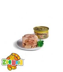Gimpet Влажный корм для кошек Shiny Cat тунец и креветки (70 г)