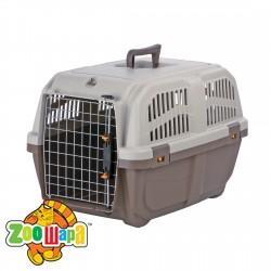 """Trixie Переноска для собак """"Skudo 3"""" (размер S - 40×39×60 см, до 24 кг) коричневый / песочный"""