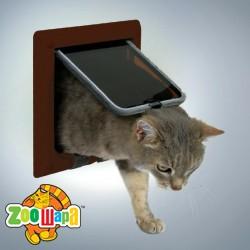 """Trixie Дверца для кошек """"Luxe"""" (коричневая, двусторонняя, врезная)"""