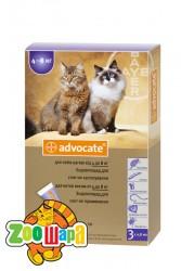 Bayer Advocate для кошек весом от 4 до 8 кг, 1 пипетка