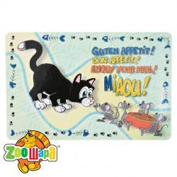 Trixie коврик под миску для еды для кошек 44х28,5см