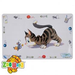 """Trixie Коврик под миску """"Comic cat"""" 44х28 см"""