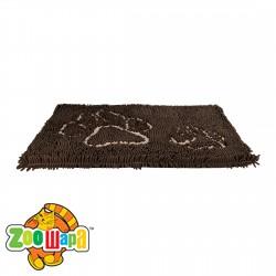 Trixie Коврик грязепоглощающий для собак с лапками (80х55 см) коричневый