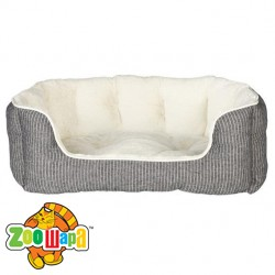 Trixie Лежак-диван для собак Davin (60x45 см) серый в полоску/кремовый