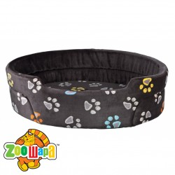 Trixie Лежак для собак Jimmy (45х35 см) темно-серый с лапками