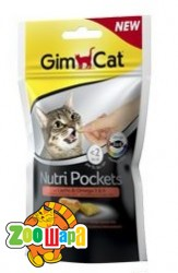 Gimpet Nutri Pockets д/кошек Лосось + Омега 3+6  60г