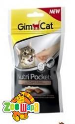 Gimpet Nutri Pockets д/кошек Птица + Биотин 60г
