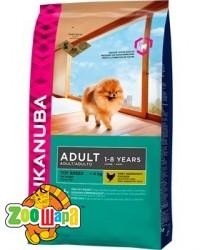 Eukanuba корм для взрослых собак  мелких пород курица 19кг