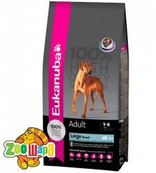 Eukanuba корм для взрослых собак крупных пород курица 15кг