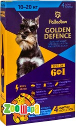 Palladium Golden Defence капли на холку для собак весом от 10 до 20 кг, 1 пипетка