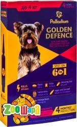 Palladium  Golden Defence капли на холку для собак весом до 4 кг, 1 пипетка