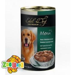 Edel Dog Dog влажный корм для собак КРОЛИК И РИС (1,2 кг) консерва
