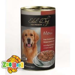 Edel Dog Dog влажный корм для собак ПТИЦА И МОРКОВЬ (1,2 кг) консерва