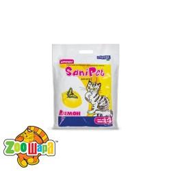 Природа Наполнитель древесный SANI PET для кошек ЛИМОН (2,5 кг)