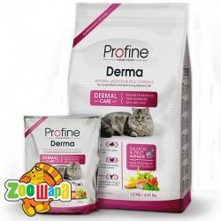PROFINE  Cat Derma 10 кг, лосось д/длинношерст.