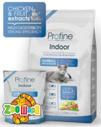 PROFINE Cat Indoor 2 кг, ягненок д/выведения шерст.комочков