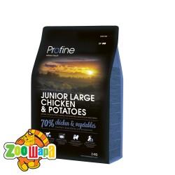 PROFINE Junior Large Breed Chicken 15 кг, курица д/щенков и юниоров крупных пород