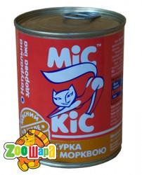 МиС КиС Мясные деликатесы Мис Кис с курицей и морквью в желе 370 мл жесть