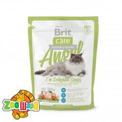Brit Care Cat Angel  (400 г) сухой корм с курицей и рисом для пожилых кошек всех пород