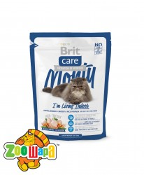 Brit Care Сухой корм для кошек живущих в помещении Monty I am Living Indoor (0,4 кг)