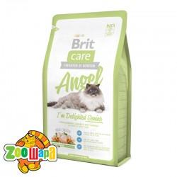 Brit Care Cat Angel (2 кг) сухой корм с курицей и рисом для пожилых кошек всех пород