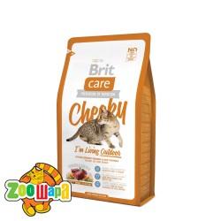 Brit Care Сухой корм для кошек живущих на улице Cheeky I am Living Outdoor (2 кг) с рисом и мясом оленя