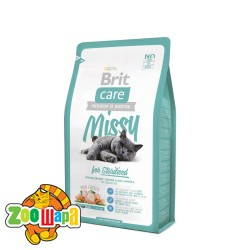 Brit Care Сухой корм для стерилизованных кошек и кастрированных котов Missy for Sterilised (2 кг) курица и рис