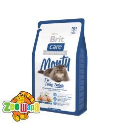 Brit Care Cat 2 kg Monty I am Living Indoor (д/кошек живущих в помещении)