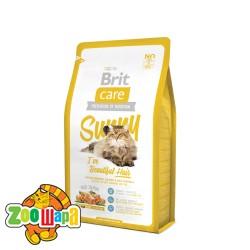 Brit Care Сухой корм для здоровья кожи и шерсти кошек Sunny I have Beautiful Hair (2 кг) с лососем и рисом