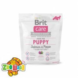 Brit Care Сухой корм для щенков Puppy Salmon & Potato GF (1 кг) с лососем и картофелем