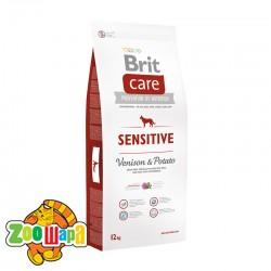 Brit Care Sensitive Venison&Potato All Breed (3 кг) сухой корм с олениной и картофелем для взрослых собак всех пород
