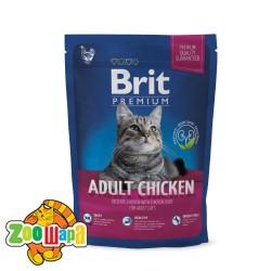 Brit Premium Cat Adult Chicken (300 г) сухой корм с курицей для взрослых кошек всех пород
