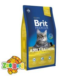 Brit Premium Cat Adult Salmon (8 кг) сухой корм с лососем для взрослых кошек всех пород