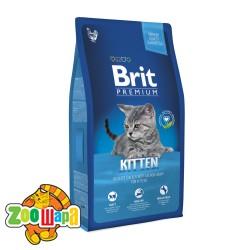 Brit Premium Cat Kitten (8 кг) сухой корм с курицей для котят всех пород