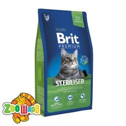 Brit Premium Cat Sterilised (8 kг) сухой корм с курицей для стерилизованных кошек и кастрированных котов всех пород