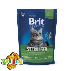 Brit Premium Cat Sterilised (800 г) сухой корм с курицей для стерилизованных кошек и кастрированных котов всех пород