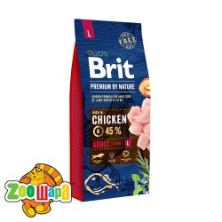 Brit Premium Adult L (15 кг) cухой корм для взрослых собак крупных пород