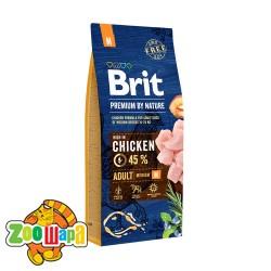 Brit Premium Adult M (8 кг) cухой корм для взрослых собак средних пород