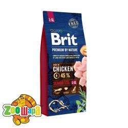 Brit Premium Senior L+XL (15 кг) cухой корм для стареющих собак крупных и гигантских пород