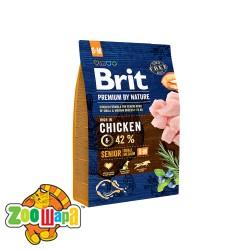 Brit Premium Senior S+M (3 кг) cухой корм для стареющих собак мелких и средних пород