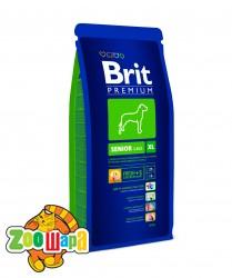 Brit Premium Сухой корм для стареющих собак крупных пород  Senior XL (15 кг)